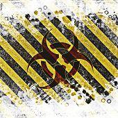 picture of bio-hazard  - Warning bio hazard sign background with grunge - JPG