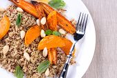 foto of quinoa  - Grilled pumpkin and carrot - JPG