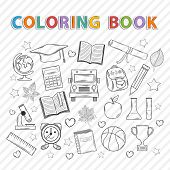 picture of graduation  - Vector coloring book - JPG