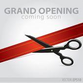 stock photo of cut  - Shop grand opening  - JPG