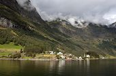 picture of fjord  - One of the most beautiful fjords of Norway - JPG
