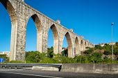 foto of aqueduct  - The Aqueduct Aguas Livres  - JPG