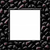 picture of obsidian  - Nice frame with place for your picture - JPG
