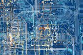 picture of circuits  - Colorful Circuit Board Background Illustration - JPG
