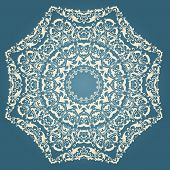 image of damask  - Vector ornamental round lace with damask and arabesque elements - JPG