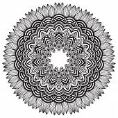 pic of mehndi  - Vector ornamental round lace with damask and arabesque elements - JPG