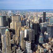 stock photo of empire state building  - Aerial view of New York City from the Empire State Building - JPG