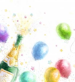 stock photo of champagne color  - Champagne party - JPG