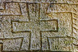 image of headstones  - Gravestone made of headstone with Maltese cross craved in - JPG