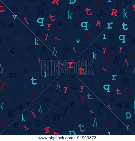 Midnight Blue Type Seamless Design