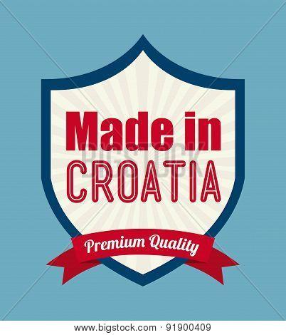 Croatia design over blue background vector illustration