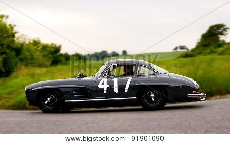 old car MERCEDES BENZ 300 SL Coupé W 198 1956   mille miglia 2015