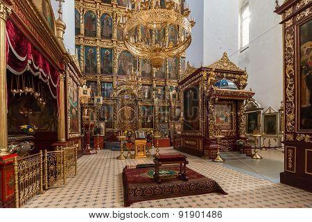 Interior of Trinity Cathedral in Kremlin, Pskov