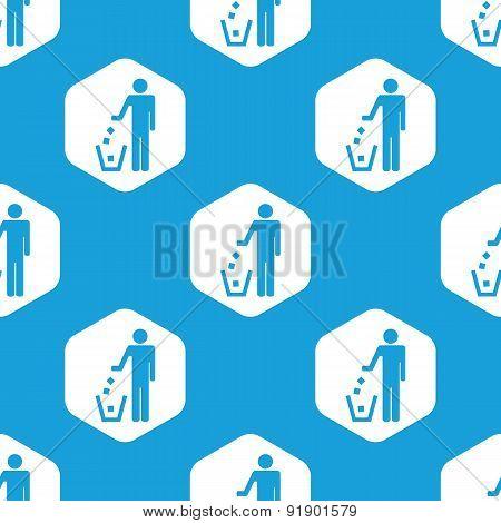 Recycling hexagon pattern