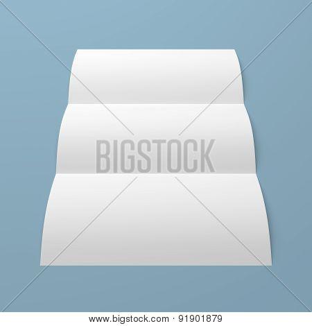 Leaflet Blank Tri Fold White Paper Brochure