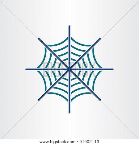 Spider Web Target Icon Design