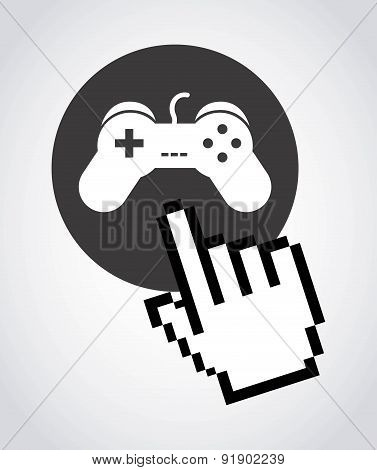 Games design over gray background vector illustration