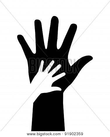 Hands design over white background vector illustration