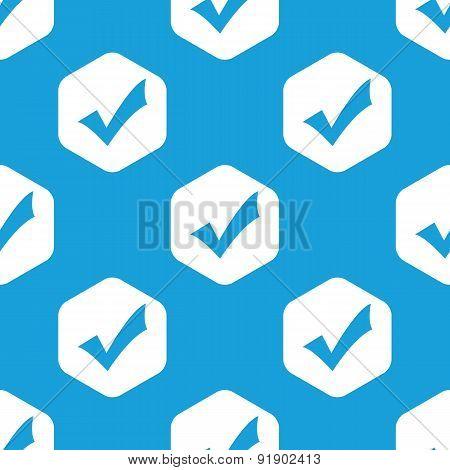 Tick mark hexagon pattern