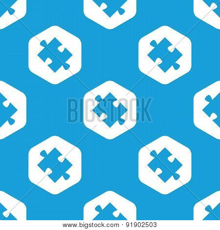 Puzzle piece hexagon pattern