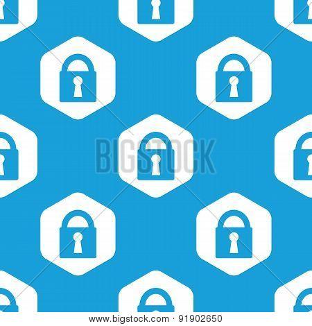 Closed padlock hexagon pattern