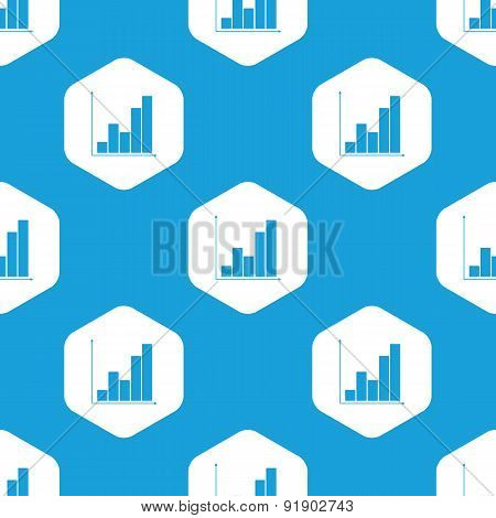 Graphic hexagon pattern