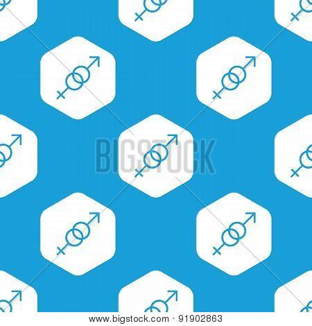 Gender symbols hexagon pattern