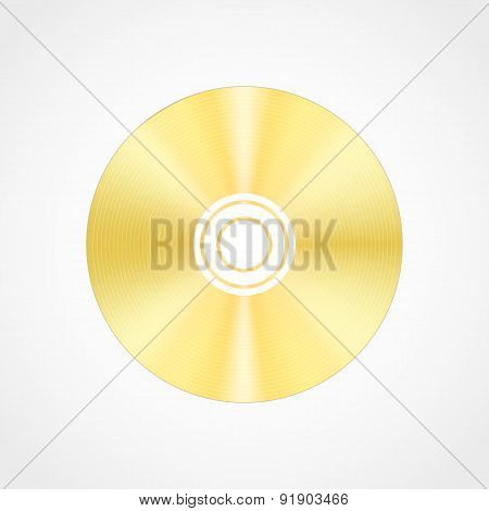 Gold blank compact disc