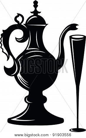 Wine Jug And Glass