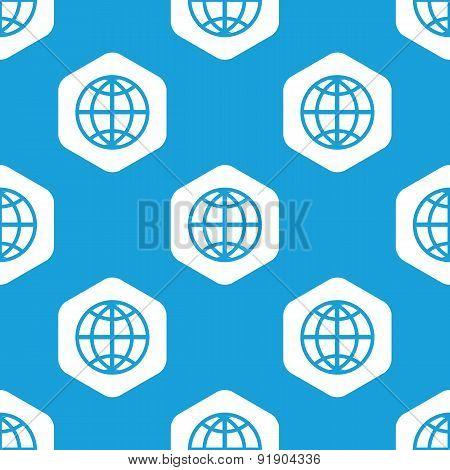 Globe hexagon pattern