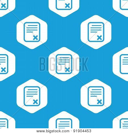 Declined document hexagon pattern