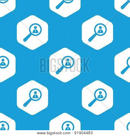 User details hexagon pattern