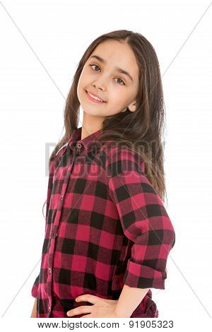 Closeup of a beautiful dark-haired girl