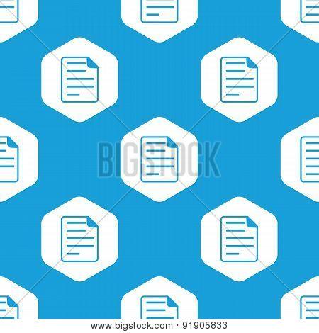 Document hexagon pattern