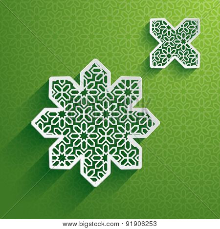 Paper graphic of Islamic design element