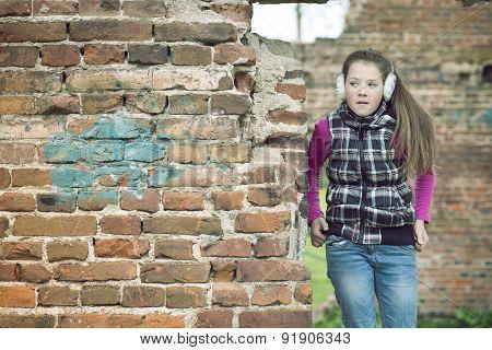 Girl On Ruins