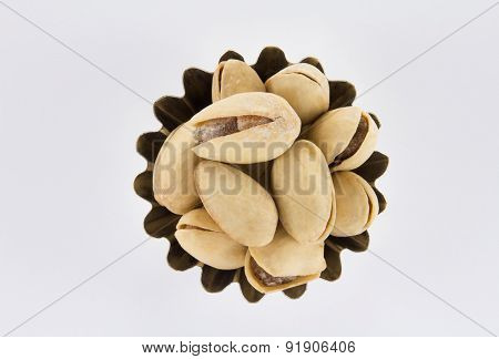 Handful Of Pistachios A Figured Shape