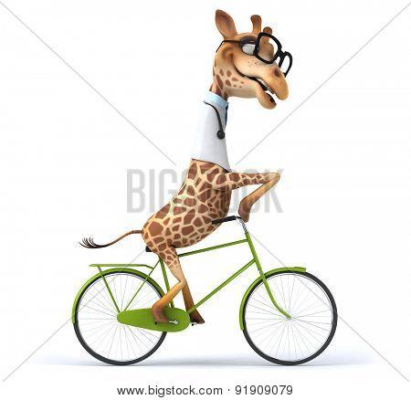 Fun giraffe