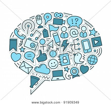 Social Media Illustration
