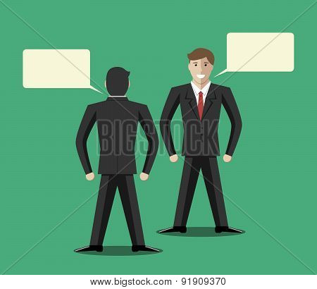 Businessmen Communicating