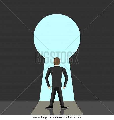 Man And Big Keyhole
