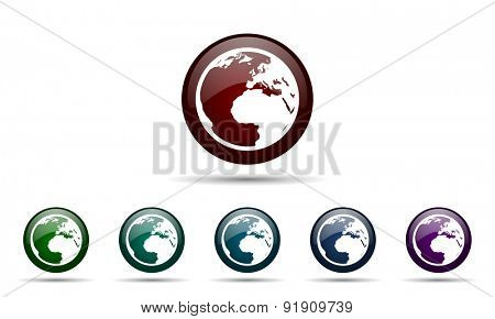 earth icon world sign