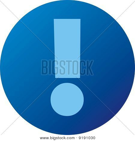Blue web button
