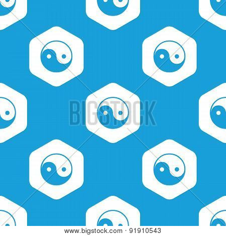Ying yang hexagon pattern