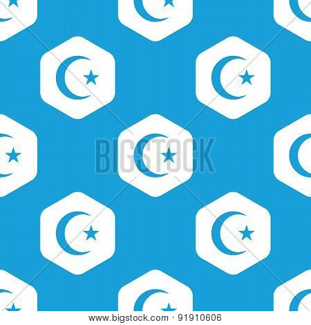 Turkish moon hexagon pattern
