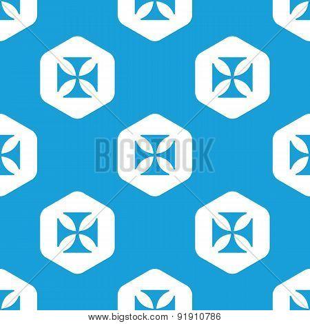 Maltese cross hexagon pattern