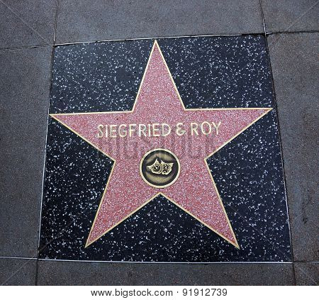 Siegfried & Roy Star In Hollywood Walk Of Fame