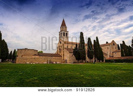 Basilica Di Santa Maria Assunta And Bell Tower Of Aquileia, Italy