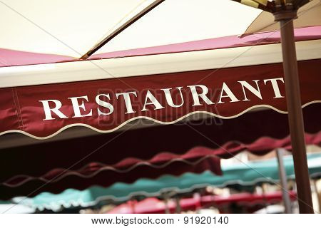 Restaurant Canopy In Paris