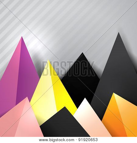 Bottom Triangle Decorative Border